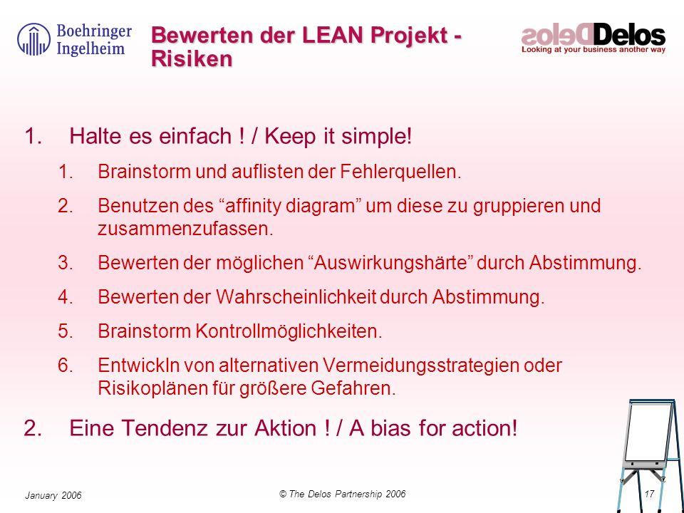 Bewerten der LEAN Projekt - Risiken