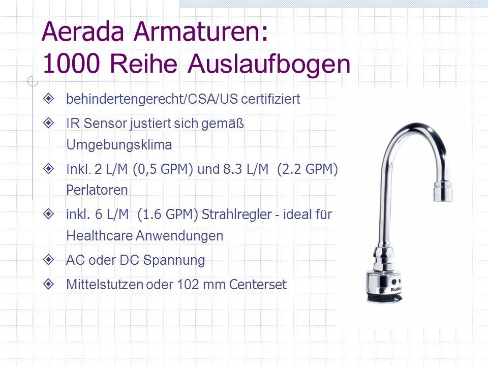 Aerada Armaturen: 1000 Reihe Auslaufbogen