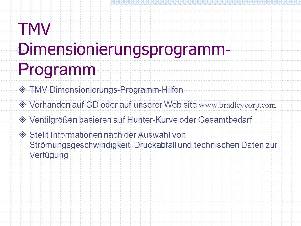 TMV Dimensionierungsprogramm-Programm
