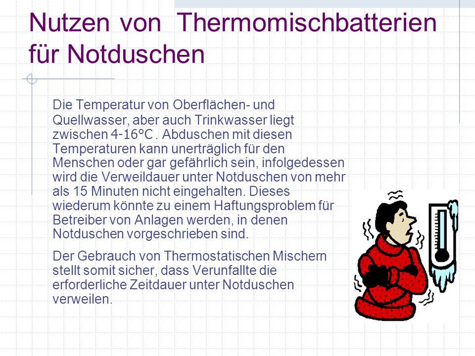 Nutzen von Thermomischbatterien für Notduschen