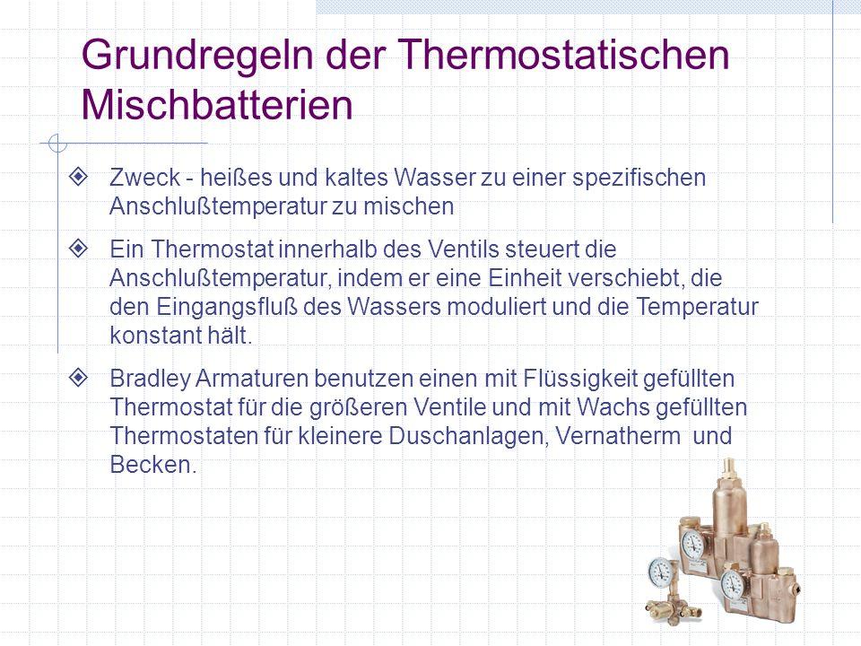 Grundregeln der Thermostatischen Mischbatterien