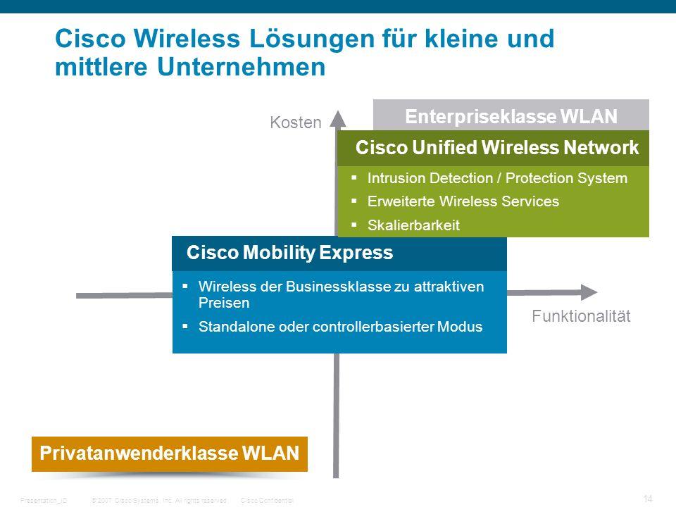 Cisco Wireless Lösungen für kleine und mittlere Unternehmen