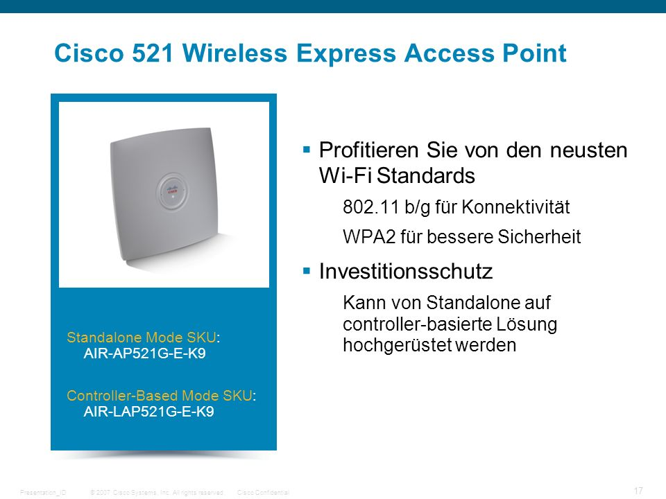 Cisco 521 Wireless Express Access Point