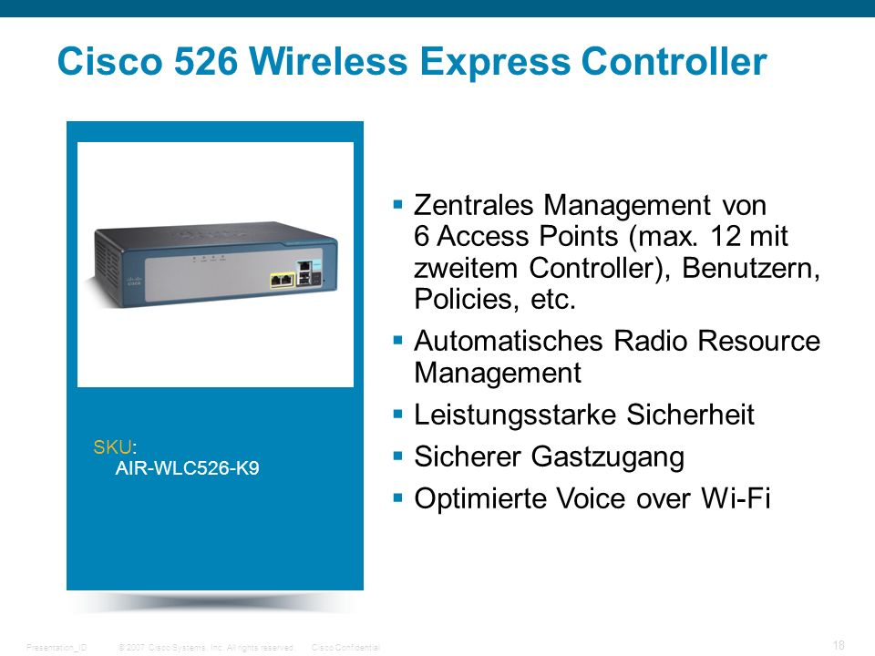 Cisco 526 Wireless Express Controller