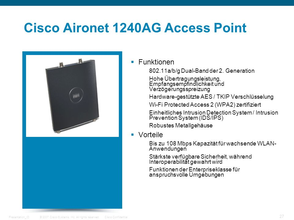 Cisco Aironet 1240AG Access Point
