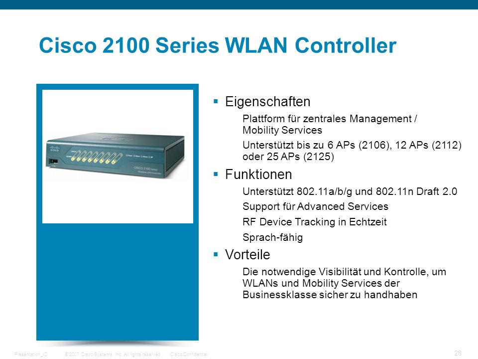 Cisco 2100 Series WLAN Controller