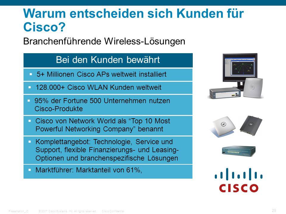 Warum entscheiden sich Kunden für Cisco