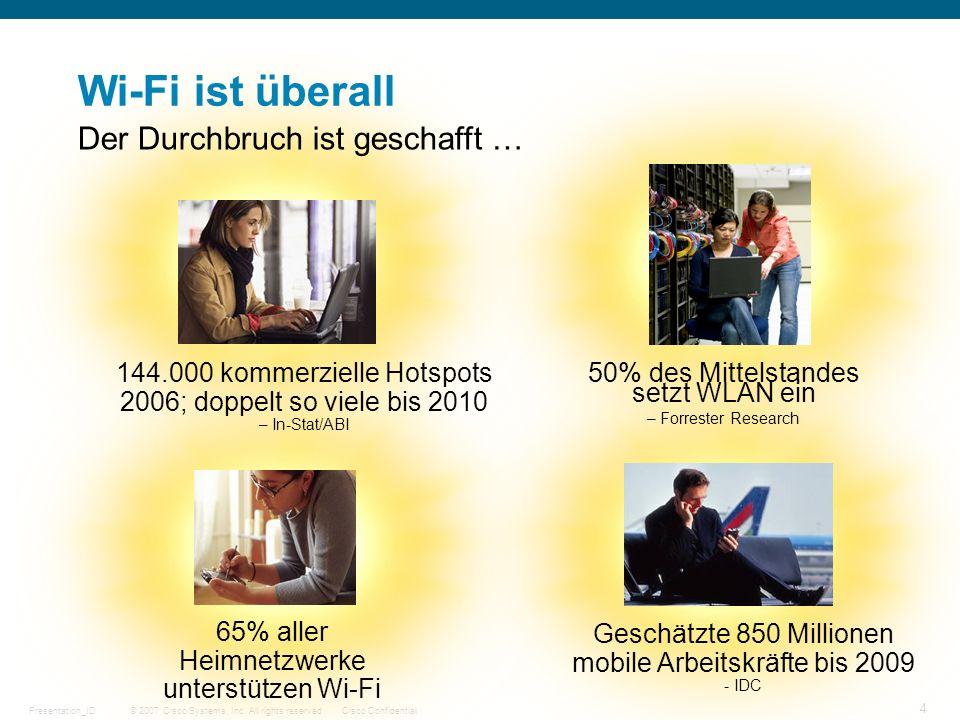 Wi-Fi ist überall Der Durchbruch ist geschafft …