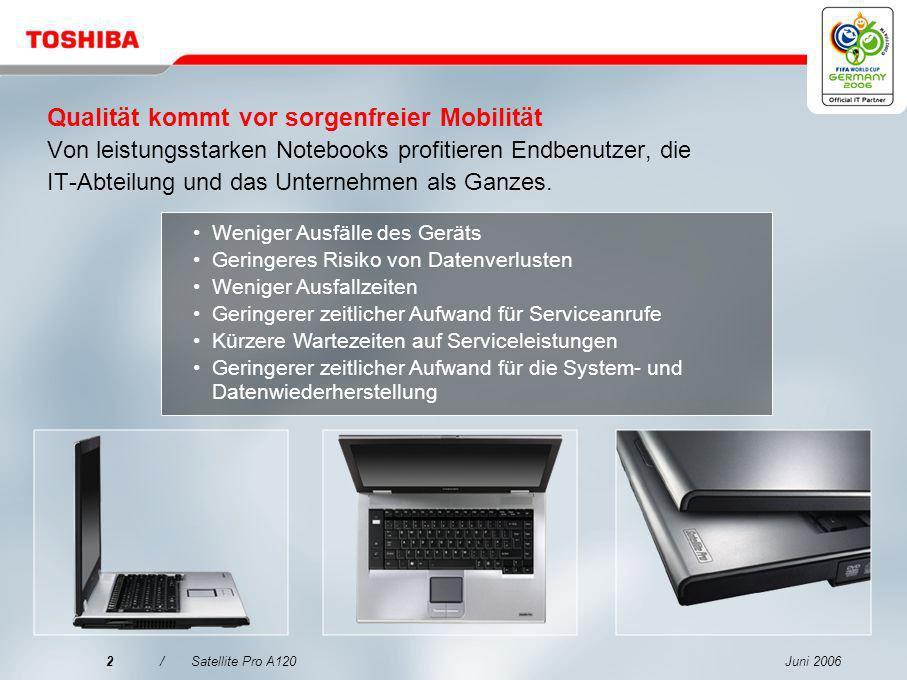 Qualität kommt vor sorgenfreier Mobilität Von leistungsstarken Notebooks profitieren Endbenutzer, die IT-Abteilung und das Unternehmen als Ganzes.