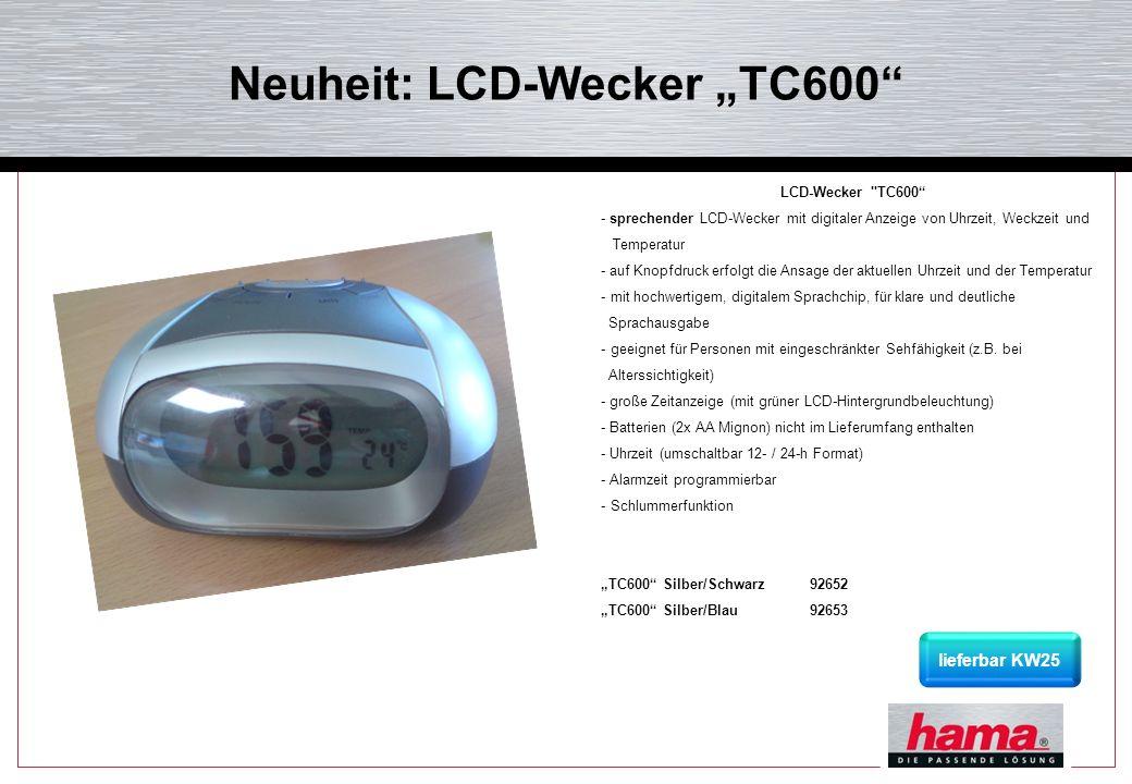 """Neuheit: LCD-Wecker """"TC600"""