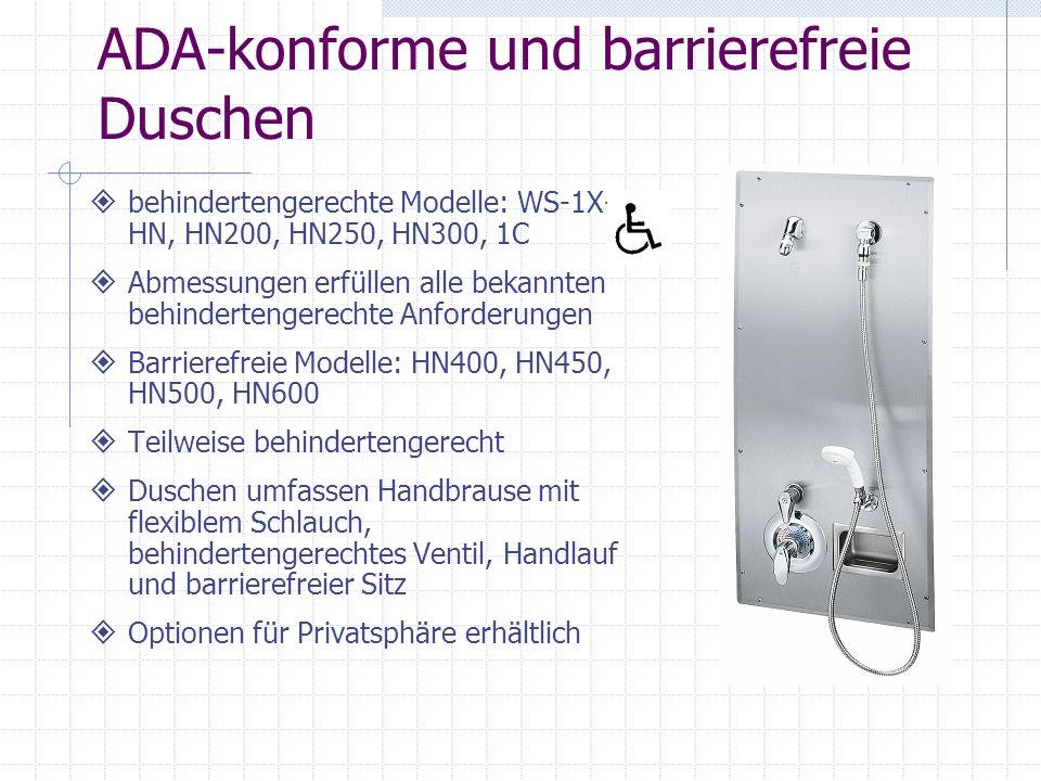 ADA-konforme und barrierefreie Duschen