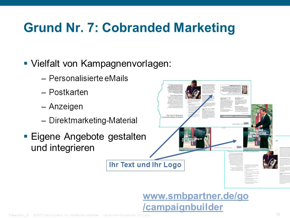 Grund Nr. 7: Cobranded Marketing