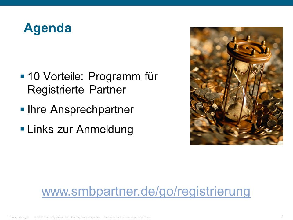 Agenda www.smbpartner.de/go/registrierung