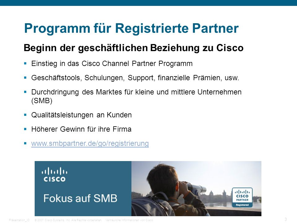 Programm für Registrierte Partner