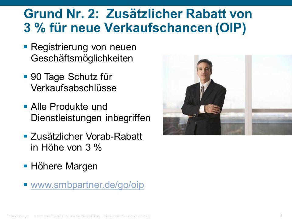 Grund Nr. 2: Zusätzlicher Rabatt von 3 % für neue Verkaufschancen (OIP)