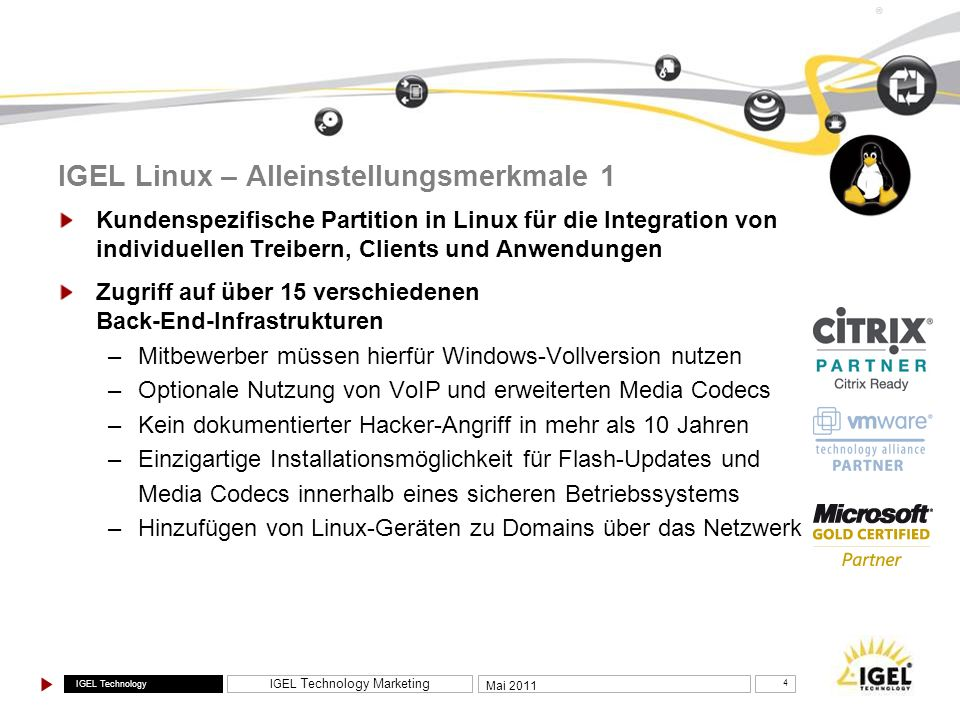 IGEL Linux – Alleinstellungsmerkmale 1