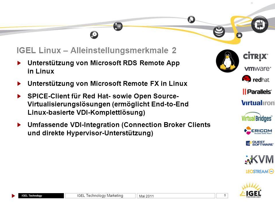 IGEL Linux – Alleinstellungsmerkmale 2