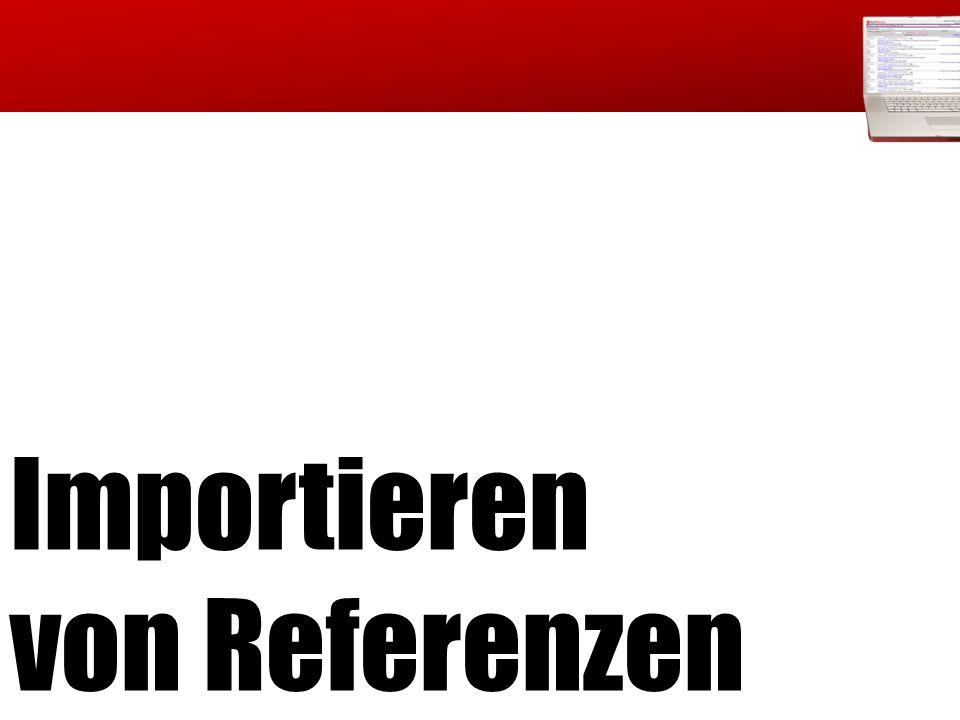 Importieren von Referenzen