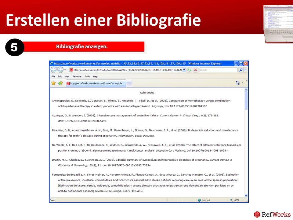 Erstellen einer Bibliografie