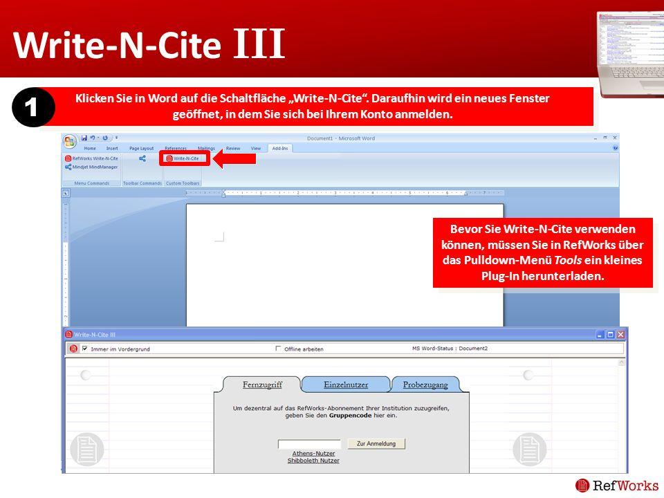 Write-N-Cite III 1.