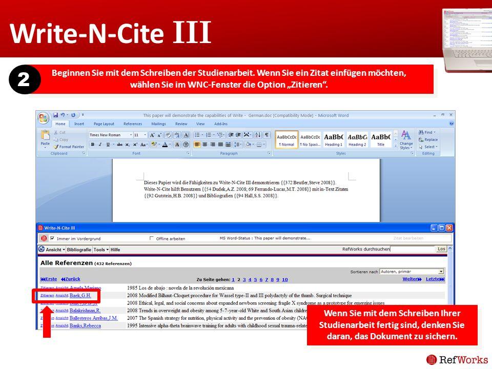 Write-N-Cite III 2.
