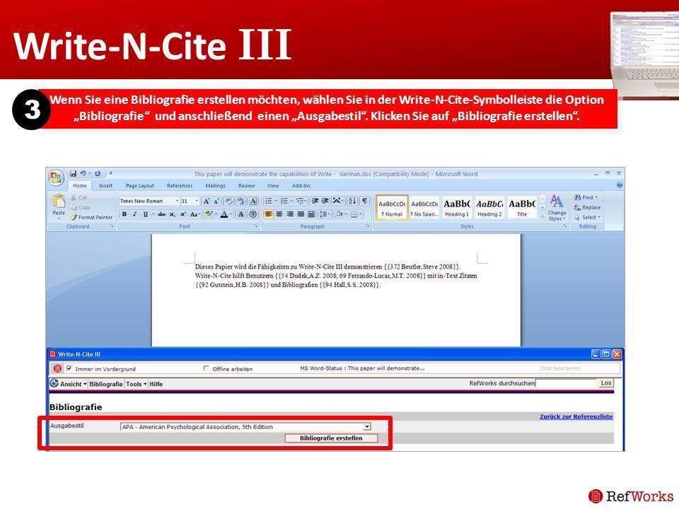 Write-N-Cite III 3.