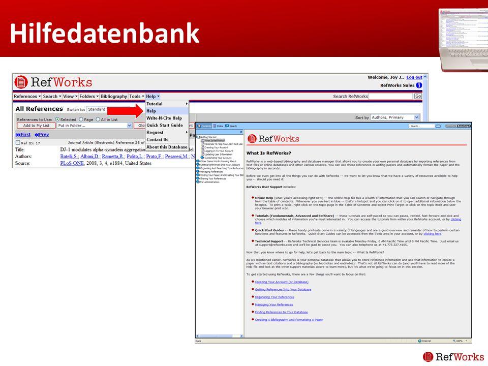 Hilfedatenbank