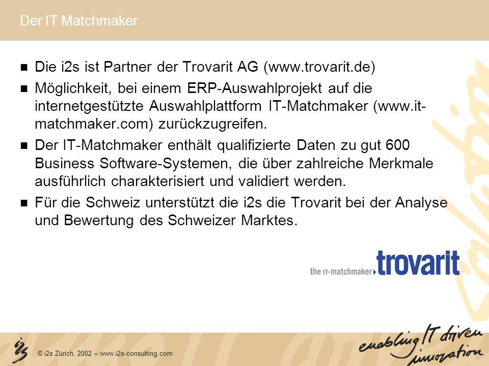 Die i2s ist Partner der Trovarit AG (www.trovarit.de)