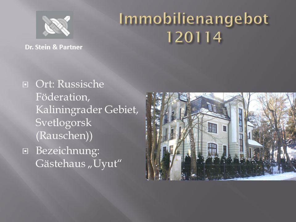Immobilienangebot 120114 Dr. Stein & Partner. Ort: Russische Föderation, Kaliningrader Gebiet, Svetlogorsk (Rauschen))