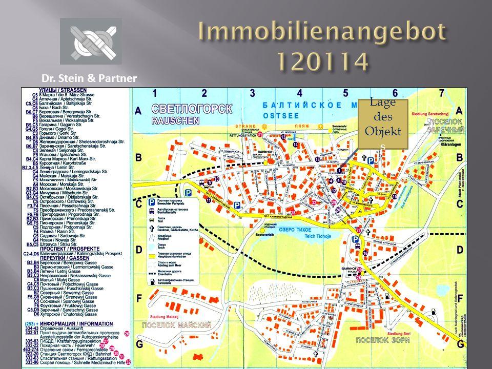 Immobilienangebot 120114 Dr. Stein & Partner Lage des Objekts