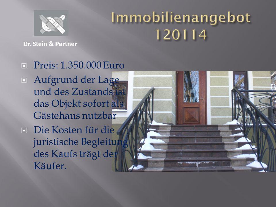 Immobilienangebot 120114 Preis: 1.350.000 Euro