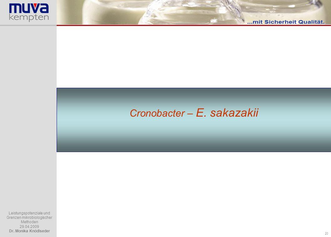 Cronobacter – E. sakazakii