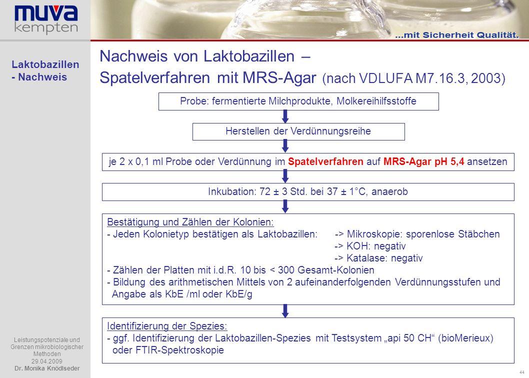 Laktobazillen - Nachweis