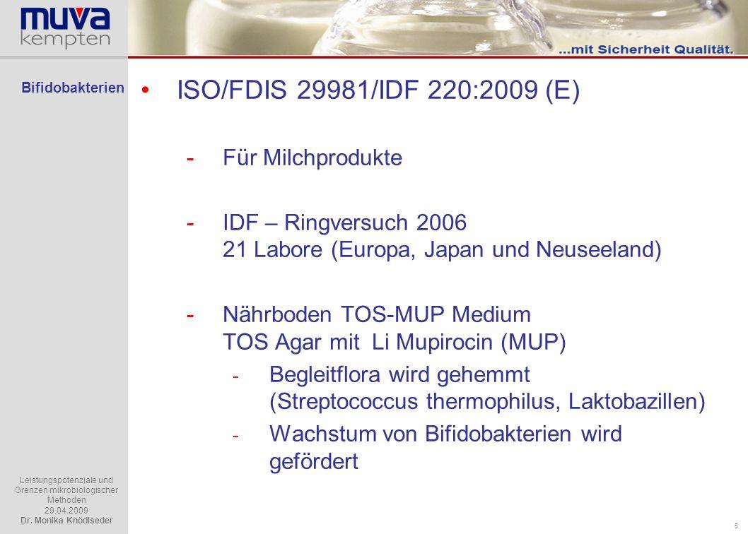 ISO/FDIS 29981/IDF 220:2009 (E) Für Milchprodukte
