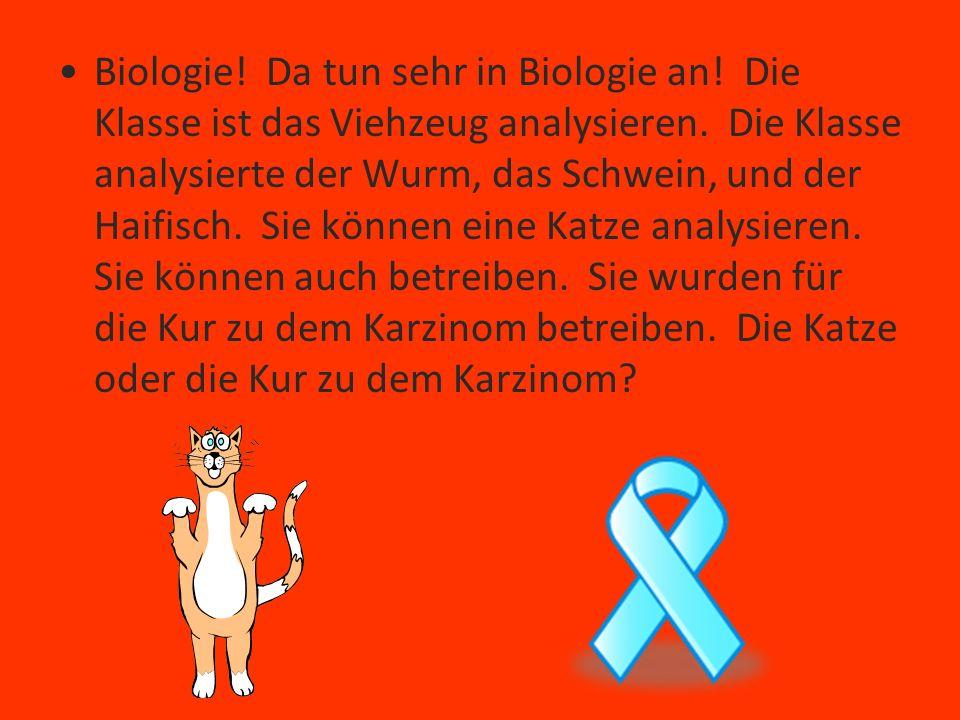 Biologie. Da tun sehr in Biologie an