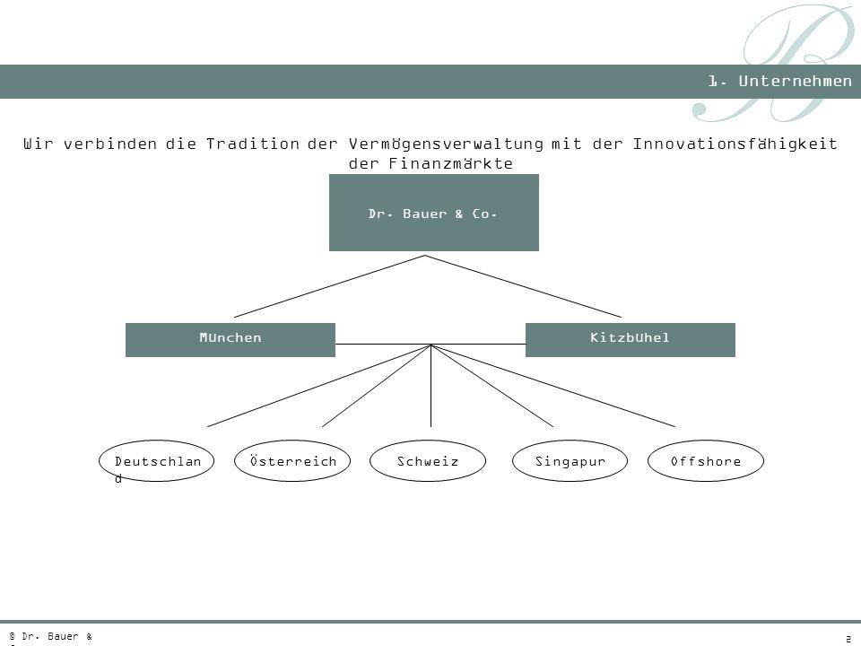 1. Unternehmen Wir verbinden die Tradition der Vermögensverwaltung mit der Innovationsfähigkeit der Finanzmärkte.