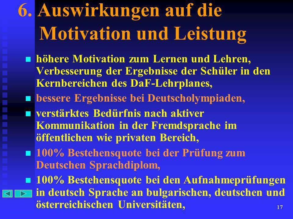 6. Auswirkungen auf die Motivation und Leistung