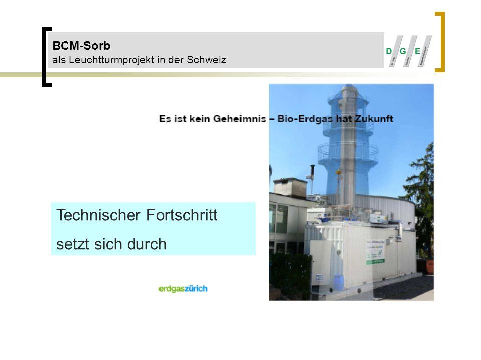 BCM-Sorb als Leuchtturmprojekt in der Schweiz