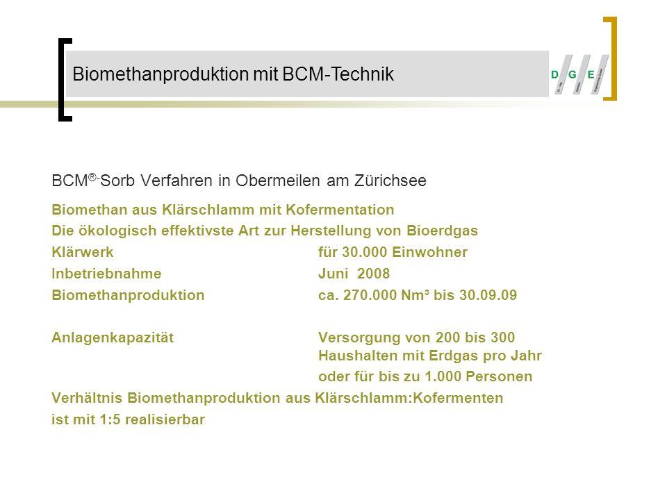 Biomethanproduktion mit BCM-Technik