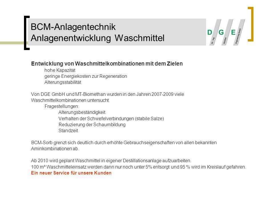 BCM-Anlagentechnik Anlagenentwicklung Waschmittel