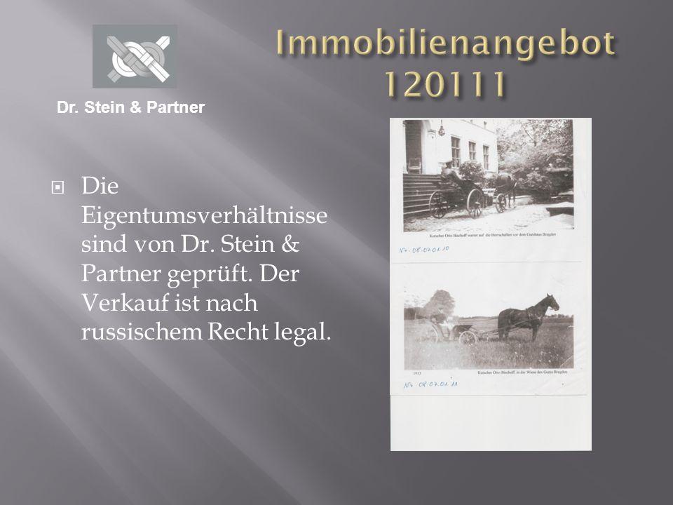 Immobilienangebot 120111 Dr. Stein & Partner.