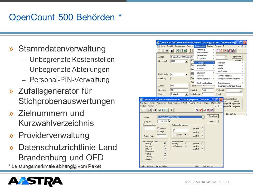OpenCount 500 Behörden * Stammdatenverwaltung