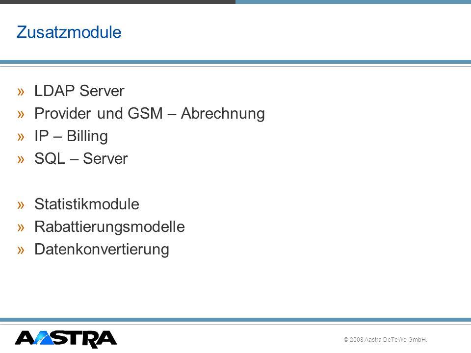 Zusatzmodule LDAP Server Provider und GSM – Abrechnung IP – Billing