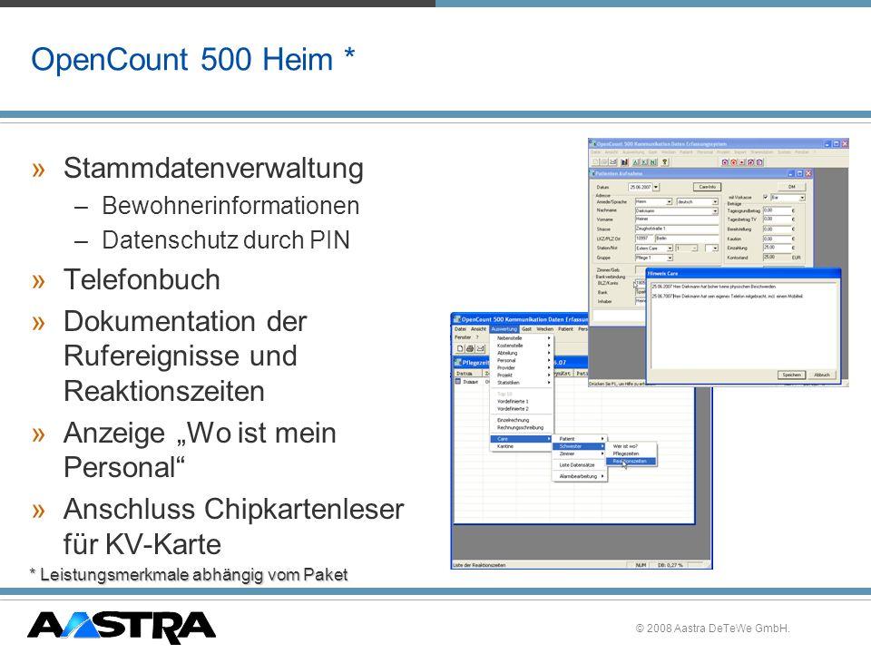OpenCount 500 Heim * Stammdatenverwaltung Telefonbuch