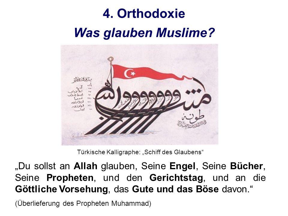 """Türkische Kalligraphe: """"Schiff des Glaubens"""