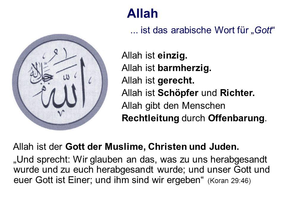 """Allah ... ist das arabische Wort für """"Gott Allah ist einzig."""