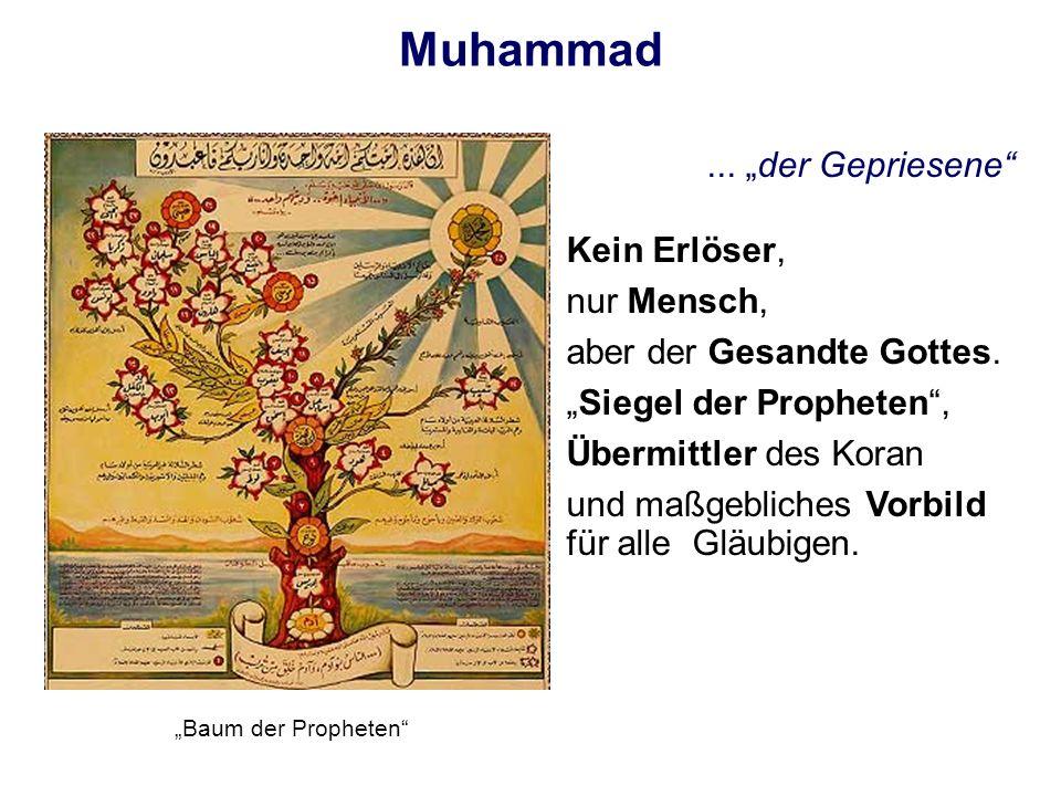 """Muhammad ... """"der Gepriesene Kein Erlöser, nur Mensch,"""
