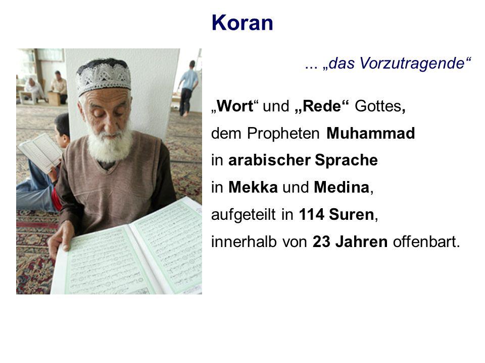 """Koran ... """"das Vorzutragende """"Wort und """"Rede Gottes,"""