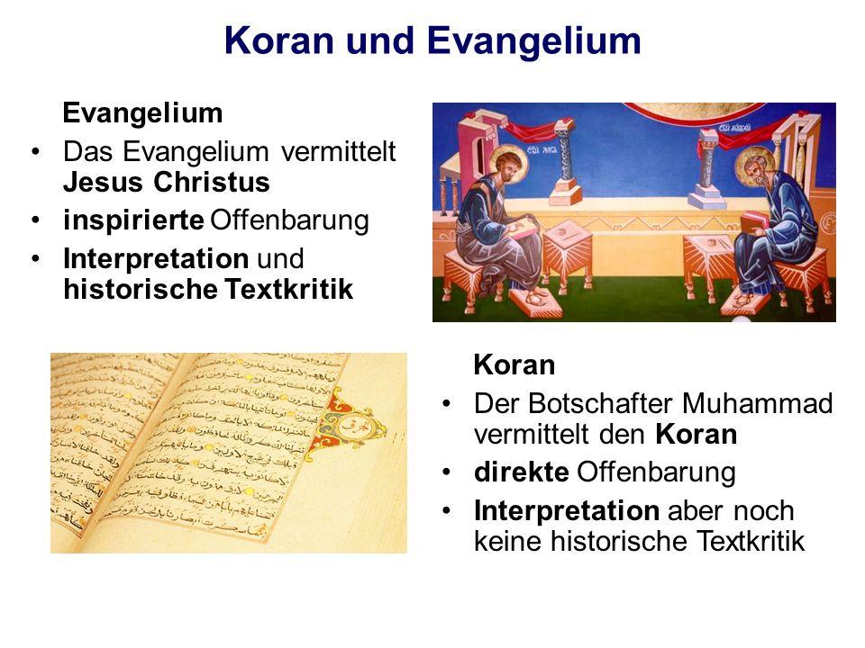 Koran und Evangelium Evangelium