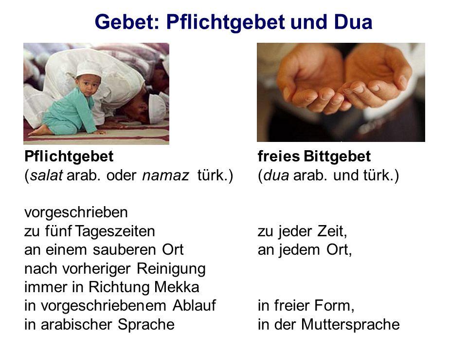 Gebet: Pflichtgebet und Dua